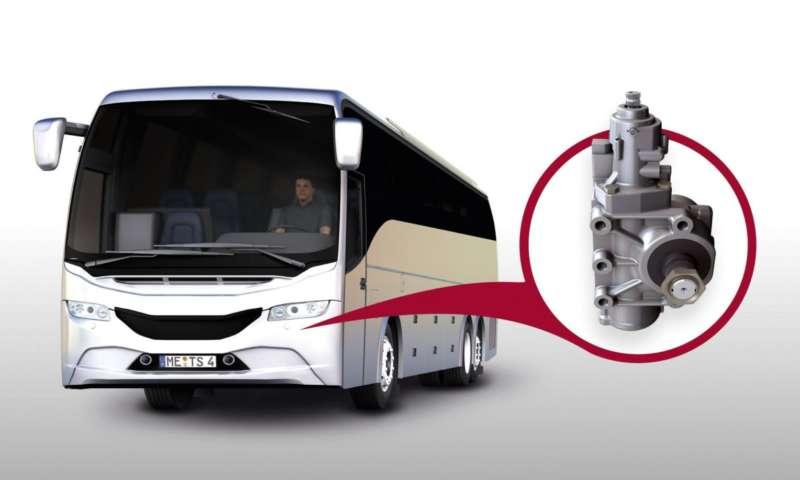 Интелигентната кормилна система tedrive Steering осигурява активна безопасност на автобусите