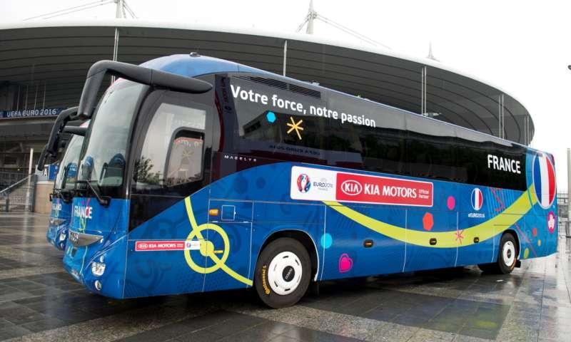 Автобусите на Евро 2016  с гуми Continental