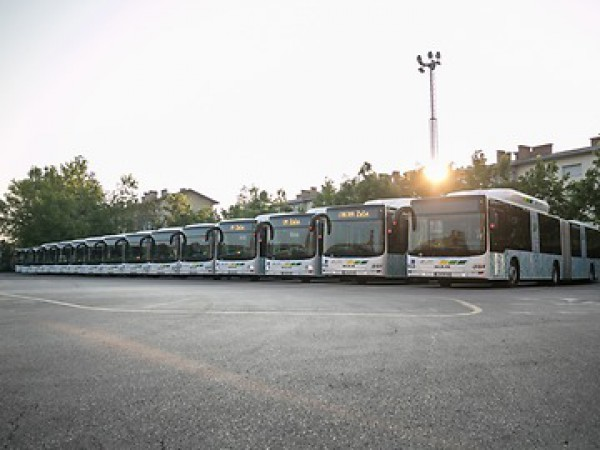 Lublyana with new MAN CNG buses