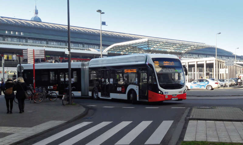 KVB bus line 133 fully electric with VDL Citeas