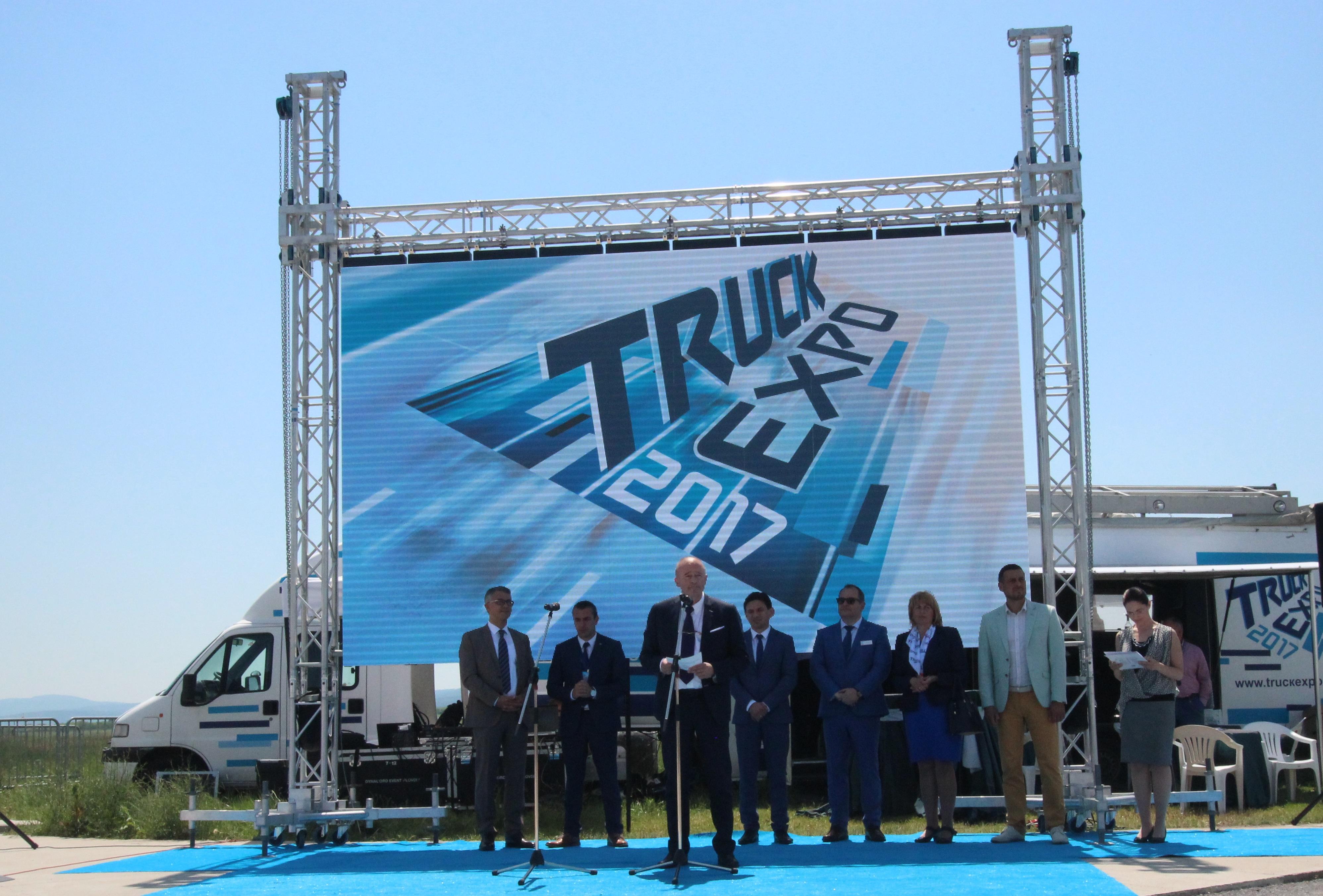 Момент от откриването на TRUCK EXPO 2017