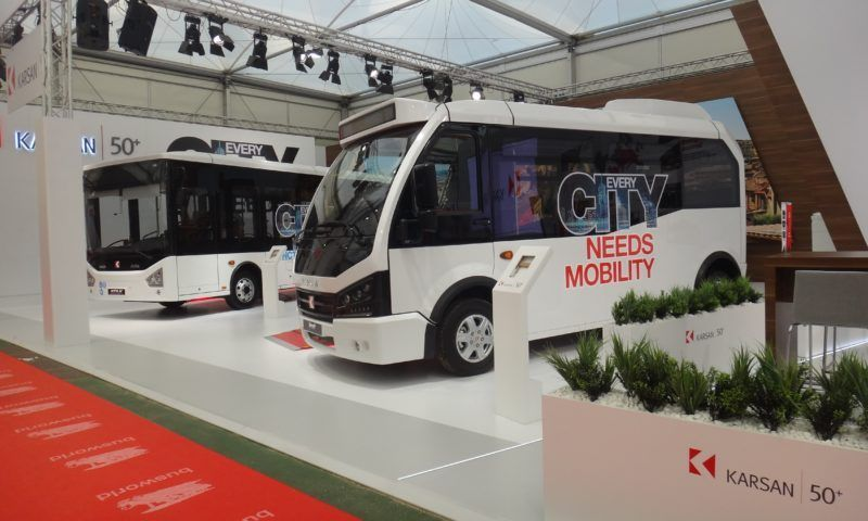 Karsan Introduced the Electric-driven Jest at Busworld Trade Show