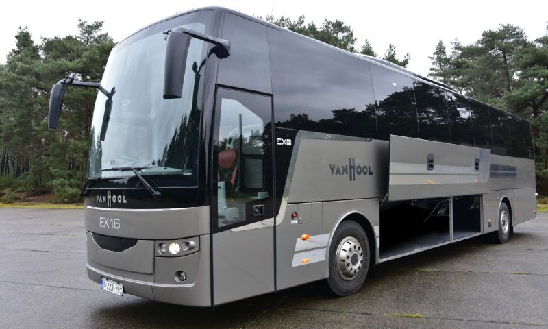 Masats pneumatic compartment system in the Vanhool EX