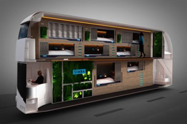 Двуетажен луксозен спален автобус в Обединеното Кралство