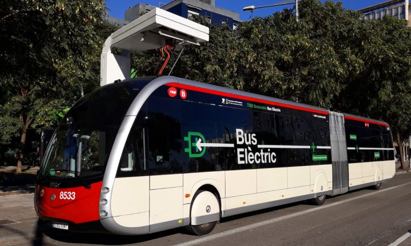 From December the first 100% electric, zero-emissions Irizar ie tram buses will operate in Barcelona