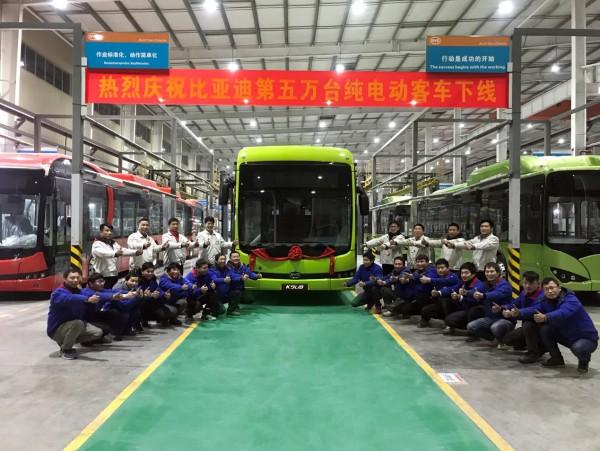 BYD произвежда 50 000 електрически автобуса само за 9 години