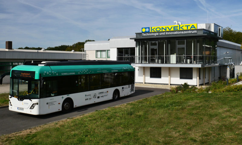 Emission-free and efficient heating of E-buses