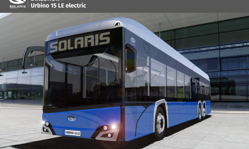 Solaris Urbino 15 LE electric will have its premiere this year