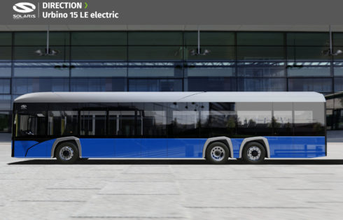 Solaris Urbino 15 LE electric с премиера тази година