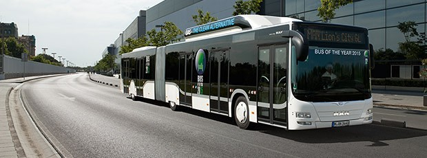 "Lion's City GL CNG на MAN е определен за ""Автобус на годината 2015"""