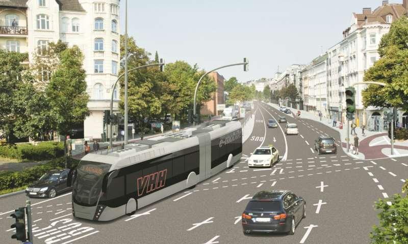 Van Hool произвежда 2 електрически трамбуса Exqui.City за Хамбург