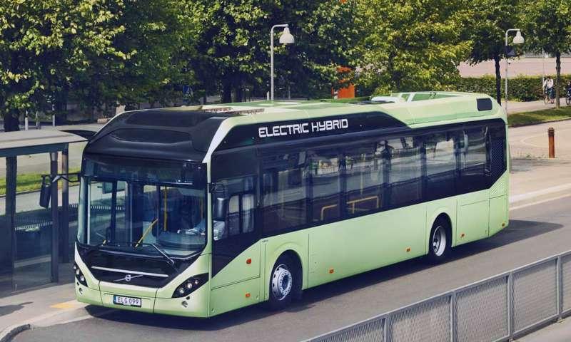 Хибридни автобуси с климатична инсталация