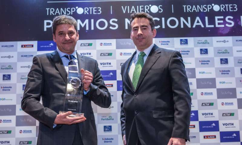 NTEGRALIA receives the 2016 Minibus of the Year award in Spain for its new in-vip plus