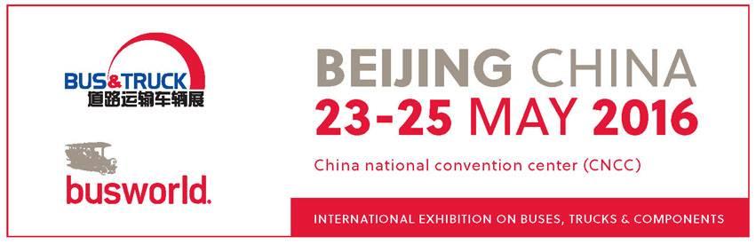 Busworld – BEIJING CHINA – 23-25 MAY 2016